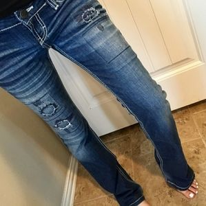 BKE embellished faded bootcut jeans 25